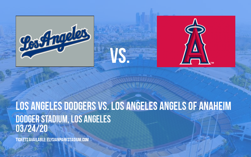 Exhibiton: Los Angeles Dodgers vs. Los Angeles Angels of Anaheim at Dodger Stadium