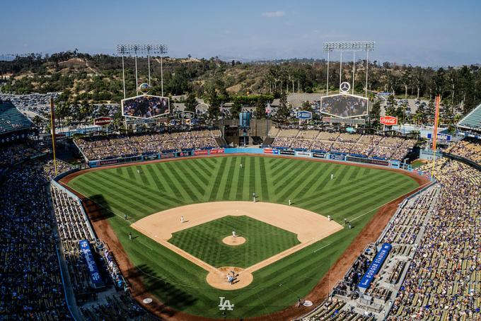 Los Angeles Dodgers vs. Chicago Cubs at Dodger Stadium