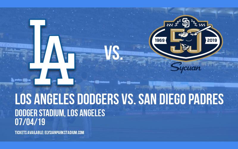 Los Angeles Dodgers vs. San Diego Padres at Dodger Stadium