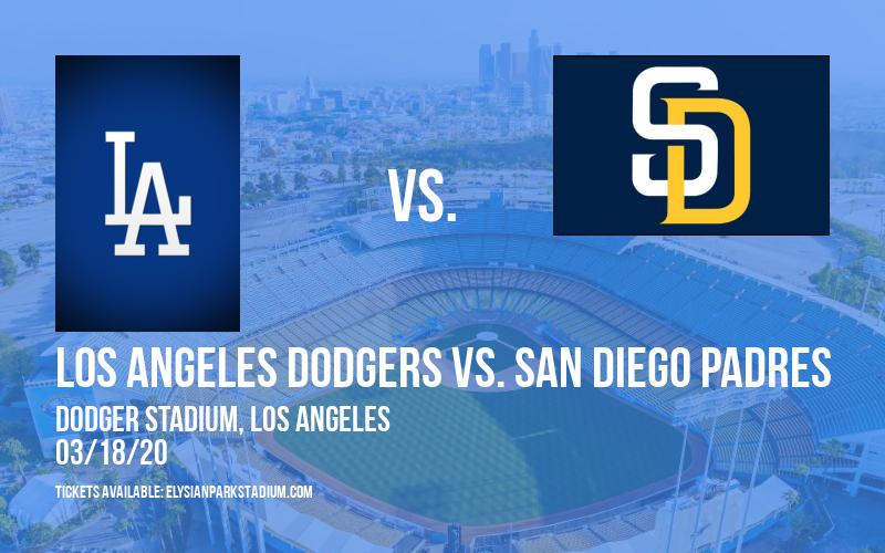 Spring Training: Los Angeles Dodgers vs. San Diego Padres (Split Squad) at Dodger Stadium