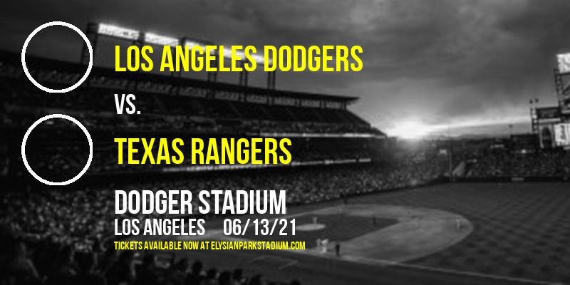 Los Angeles Dodgers vs. Texas Rangers at Dodger Stadium